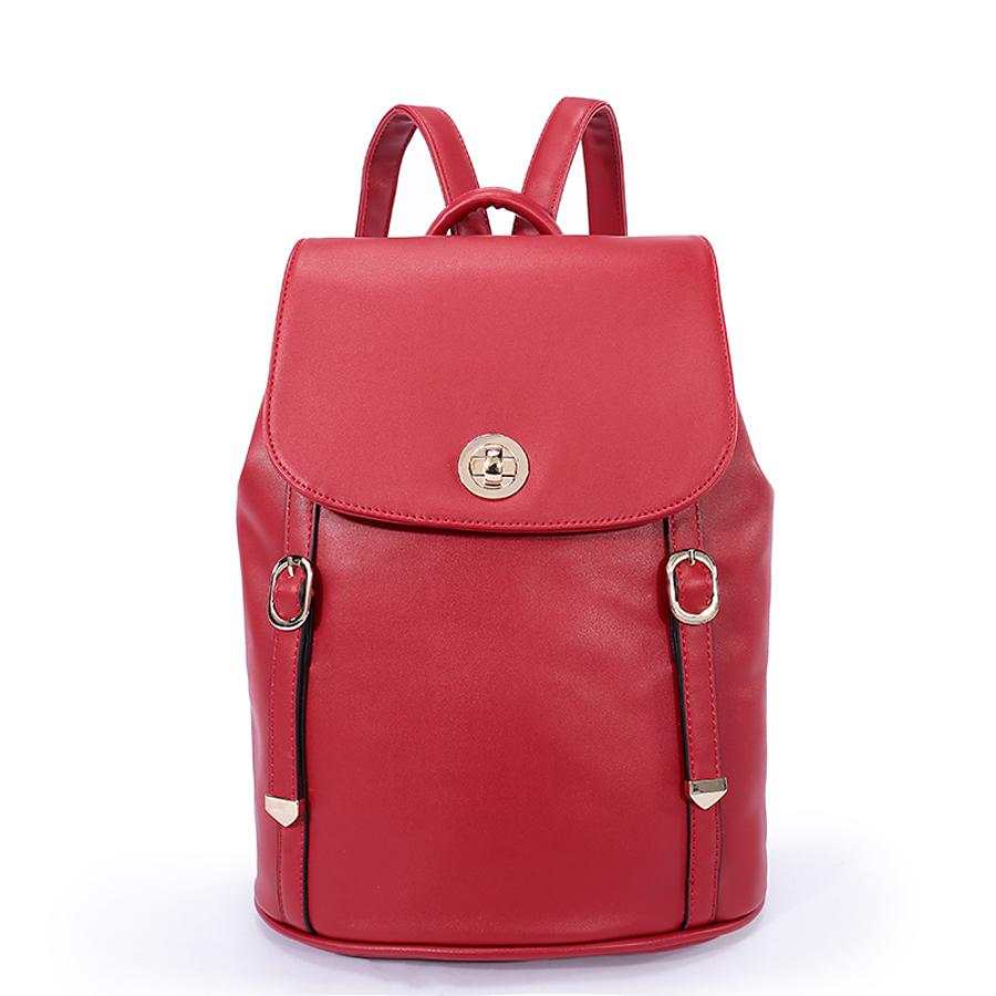 Рюкзак женский Orsa Oro, цвет: красный. D-185/25KV996OPY/MСтильный женский рюкзак Orsa Oro с одним отделением выполнен из экокожи. Изделие с клапаном застегивается на замок-вертушку и металлические кнопки. Задняя сторона оформлена прорезным карманом на молнии. Внутри изделие содержит два накладных кармана, карман под iPad и один прорезной карман на молнии. Рюкзак декорирован ремешками с металлическими пряжками и наконечниками, оснащен удобными плечевыми лямками регулируемой длины, а также петлей для подвешивания.