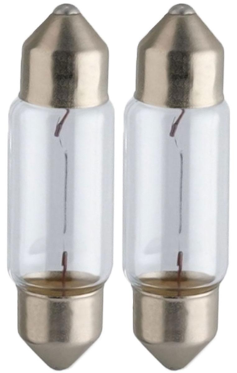 Лампа автомобильная Philips Vision, для салона, цоколь C5W (SV8,5-35/11), 12V, 5W, 2 шт10503Автомобильная лампа Philips Vision изготовлена из запатентованного кварцевого стекла с УФ-фильтром Philips Quartz Glass. Кварцевое стекло в отличие от обычного стекла выдерживает гораздо большее давление и больший перепад температур. При попадании влаги на работающую лампу, лампа не взрывается и продолжает работать. Лампа Philips Vision производит на 30% больше света по сравнению со стандартной лампой, благодаря чему стоп-сигналы или указатели поворота будут заметны с большего расстояния. Лампа Philips Vision отличается высокой эффективностью, соответствуя всем современным требованиям.