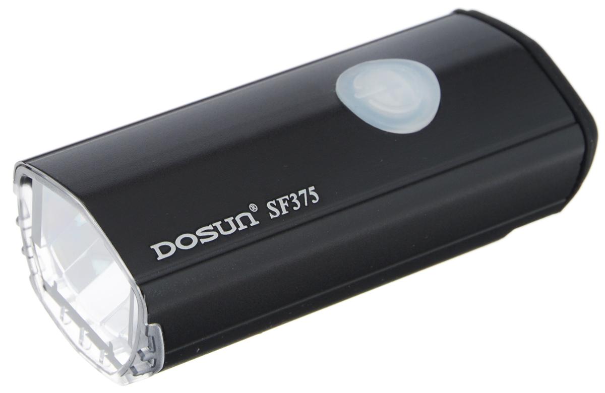 Фара велосипедная светодиодная Dosun SF-375, с зарядкой от USB, цвет: черныйMW-1462-01-SR серебристыйСветодиодная велосипедная фара Dosun SF-375 сделает ваш велосипед более заметным в темное время суток и обеспечит безопасность на дороге. Водонепроницаемый, устойчивый к царапинам корпус модели имеет изысканные формы. Фара оснащена ярким светодиодом мощностью 375 лм. Работает в трех различных режимах: сильное освещение, слабое освещение, мигание. Благодаря специальному креплению изделие легко устанавливается на руль. Удобная конструкция фары позволяет быстро устанавливать или снимать ее без каких-либо инструментов. Устанавливается на любые модели велосипедов. Встроенный аккумулятор заряжается с помощью USB-кабеля. Емкость аккумулятора: 1500 mAh Li-ion Polymer. Время зарядки: 4 часа. Диаметр штанги руля: 25,4-31,8 мм.