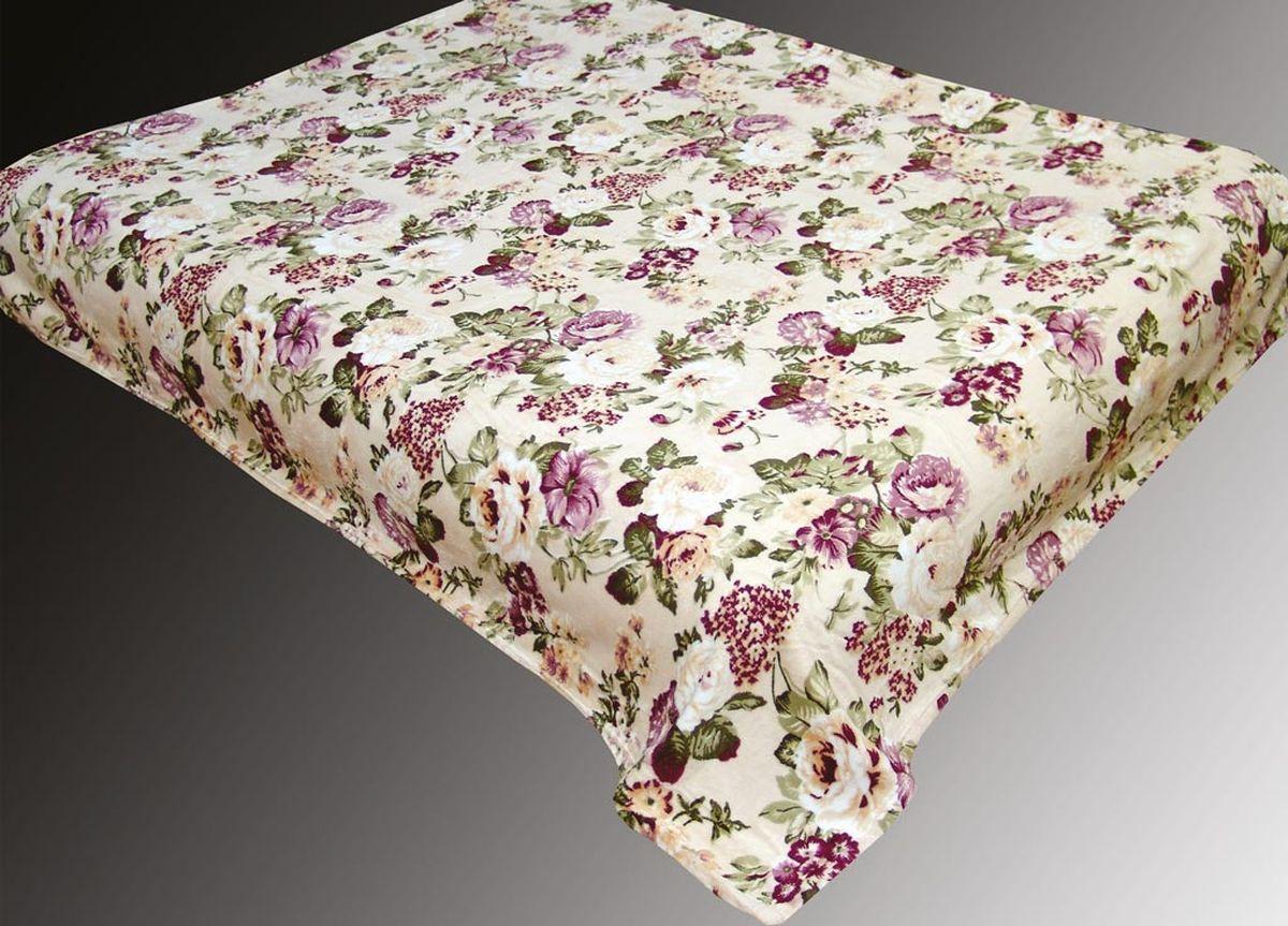 Плед ТД Текстиль Absolute, печатный, 180 х 230 см, цвет: серый, черныйS03301004плотность 660 гр/м2