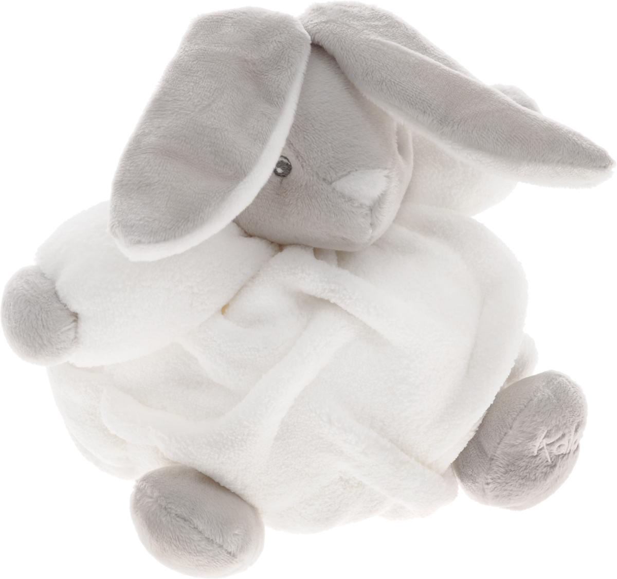 Kaloo Мягкая музыкальная игрушка Заяц цвет белый серый 17 см мягкие игрушки kaloo овечка 45 см коллекция друзья