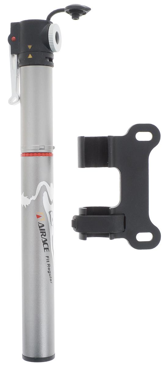 Насос мини Airace AP-84 Fit RegularZ90 blackМини насос Airace AP-84 Fit Regular, выполненный из алюминия, предназначен для накачивания шин велосипедов. Насос имеет небольшой размер, удобен для переноски. Головка насоса прикрепляется к шлангу, который защищает клапан камеры шины от повреждений. Изделие имеет алюминиевый рычаг. Совместимость с Shrader, Presta, Dunlop и E/V. Максимальное давление 100 фунт-сил на квадратный дюйм (7 бар). Корпус имеет защиту от пыли. Давление: 100 psi (7 бар).