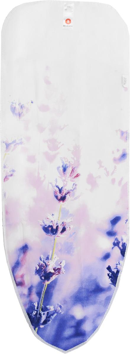 Чехол для гладильной доски Brabantia  Сиреневые цветы , 124 х 38 см - Гладильные доски