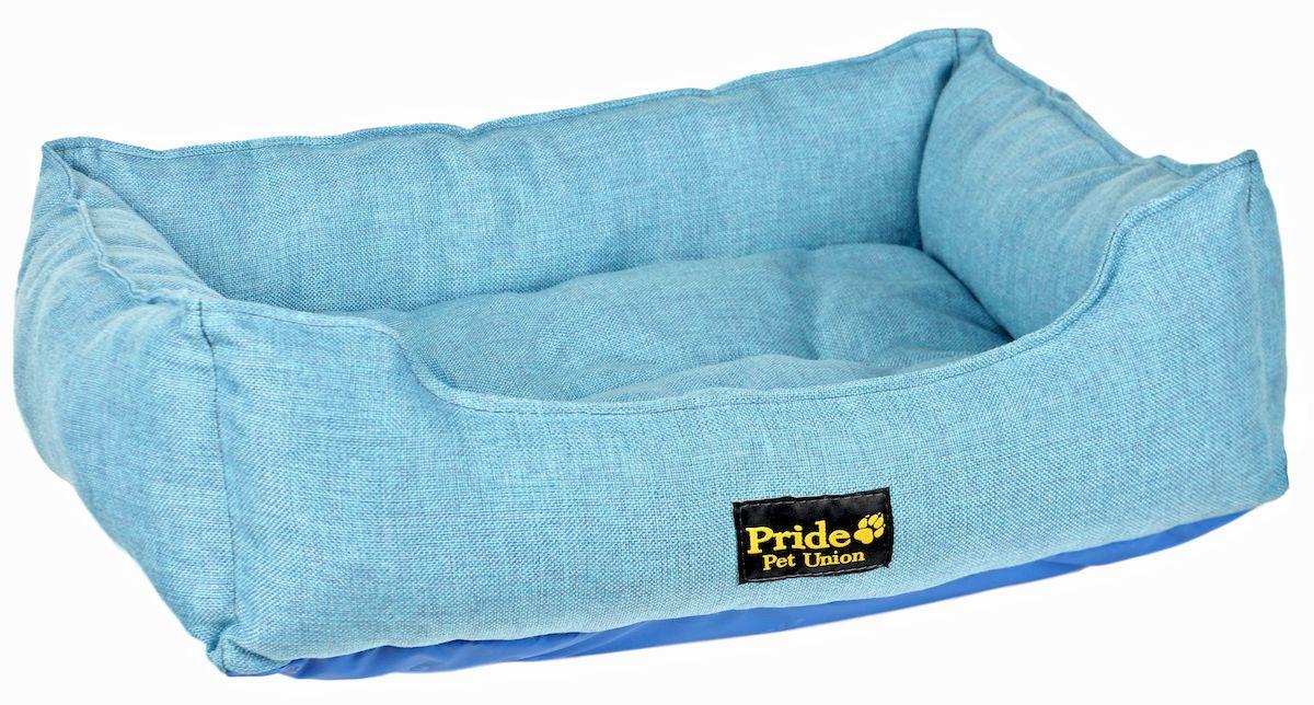 Лежак для животных Pride Прованс, цвет: голубой, 70 х 60 х 23 см0120710Лежак Pride Прованс непременно станет любимым местом отдыха вашего домашнего животного. Изделие выполнено из полиэстера, а наполнитель - из холлофайбера. Такой материал не теряет своей формы долгое время. Внутри имеется мягкая съемная подстилка.На таком лежаке вашему любимцу будет мягко и тепло. Он подарит вашему питомцу ощущение уюта и уединенности.