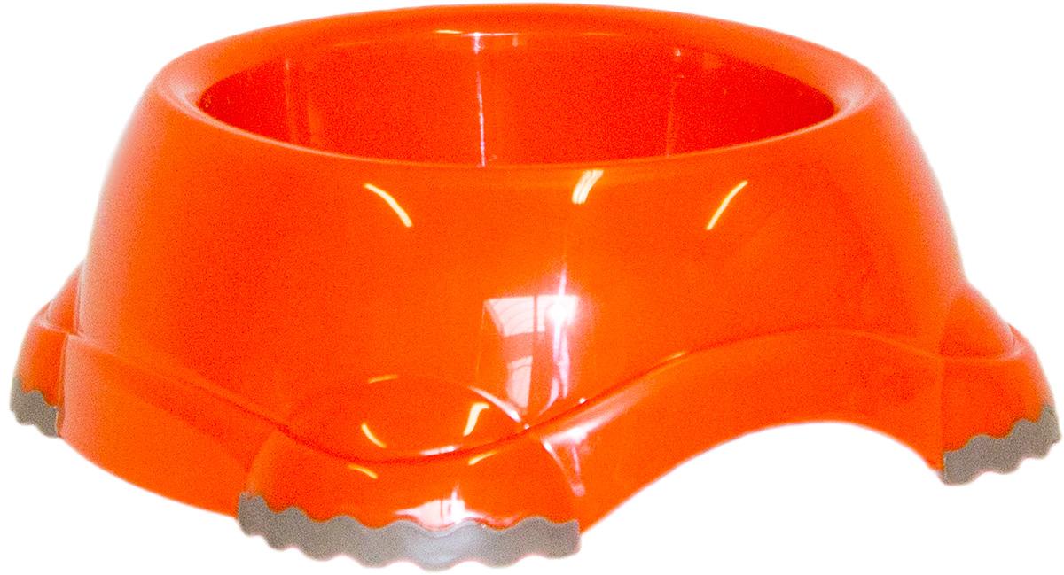 Миска Moderna Smarty bowl, с антискольжением, цвет: оранжевый, 16 х 6 см0120710Миска для корма и воды из полированного пластика. Ножки миски имеют резиновые накладки для предотвращения скольжения по полу. Качественный пластик не гнется, не ломается, не впитывает запахи, миска легко моется, имеет длительных срок эксплуатации. Стильный дизайн, широкая цветовая гамма. Специально разработанная конструкция для удобства Вашего питомца.Характеристики:Размер миски: 20 х 18 х 7 см;Глубина миски: 6 см;Цвет: оранжевый.