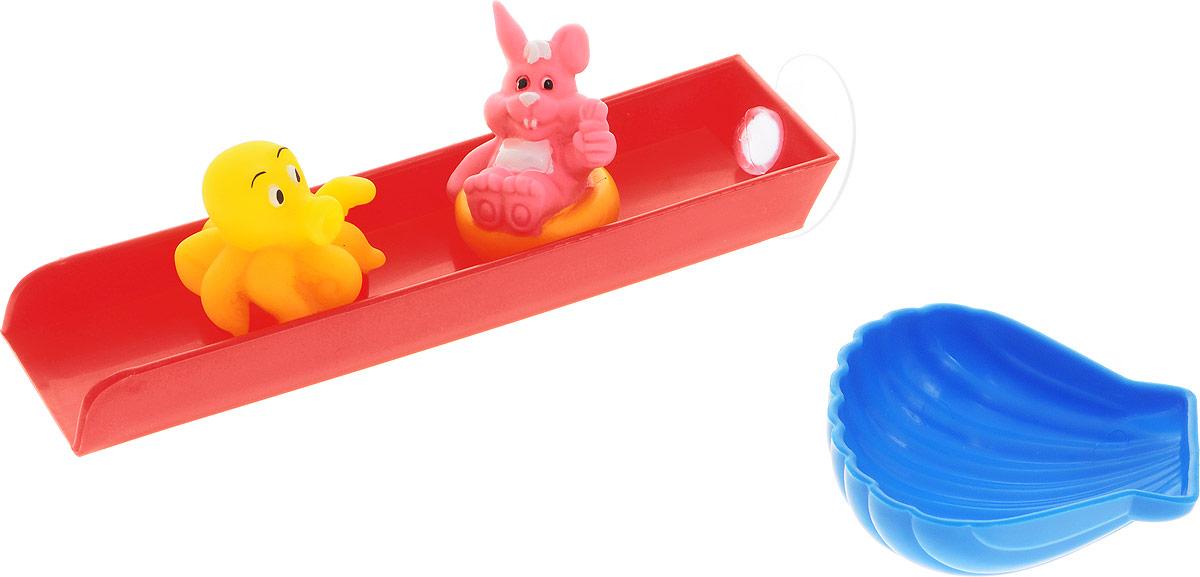 Жирафики Игрушка для ванной Веселые горки домашние горки для машинок