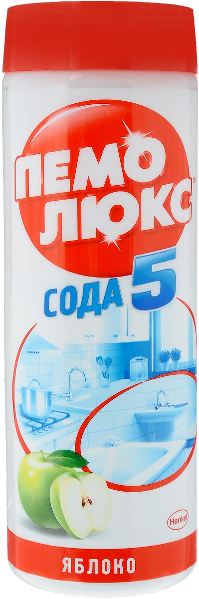 Универсальное чистящее средство Пемолюкс Яблоко, 480 г68/5/1Чистящий порошок Пемолюкс Сода 5 Яблоко обеспечивает 5 слагаемых эффективной и безопасной уборки:1) Эффективность против жира и въевшейся грязи2) Универсальное использование по всему дому3) Бережное очищение разнообразных поверхностей4) Безопасное средство - без агрессивных химикатов (при надлежащем использовании)5) Аромат чистоты и свежестиПемолюкс Сода 5: Бескомпромиссная Чистота!Мощная формула Пемолюкс Сода 5 с содой и мягким абразивом не содержит опасных химикатов и подходит для чистки керамических, эмалированных, металлических и других твердых поверхностей на кухне, в ванной комнате и в прочих помещениях. С осторожностью использовать на полированных и пластиковых поверхностях.- Не содержит хлор - Дерматологически протестированоТовар сертифицирован.