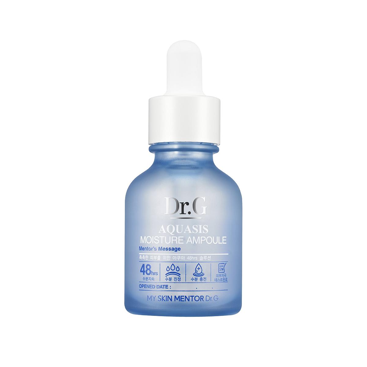 Dr. G Ампула-сыворотка увлажняющая Aquasis, 30 млMYL-000000155Эссенция для восстановления тонуса кожи с экстрадолгим влагоудерживающим действием в течение 48 часов с эффектом мгновенного увлажнения. Содержит пентавитамин R, алоэ вера, гречиху и 2 вида гиалуроновой кислоты. 2 вида гиалуроновой кислоты дают эффект моментального увлажнения, избавляют от шелушения, грубого внешнего вида, стянутости. Обладают мультидействием - регенерирующими свойствами, усиливают метаболизм, поддерживает водный баланс. Пентавитамин R состоящий из натуральных карбогидрантов, сохраняет кожу нежной и упругой. Пентавитамин проникает в эпидермис достаточно глубоко и благодаря этому сохраняется нормальный водный баланс. Экстракт алоэ вера прекрасно увлажняет, оказывает заживляющее и успокаивающее действие, разглаживает морщины, замедляет процесс старения.Экстракт гречихи богат флавоноидами, которые борются со свободными радикалами.Эссенция подходит для всех типов кожи.