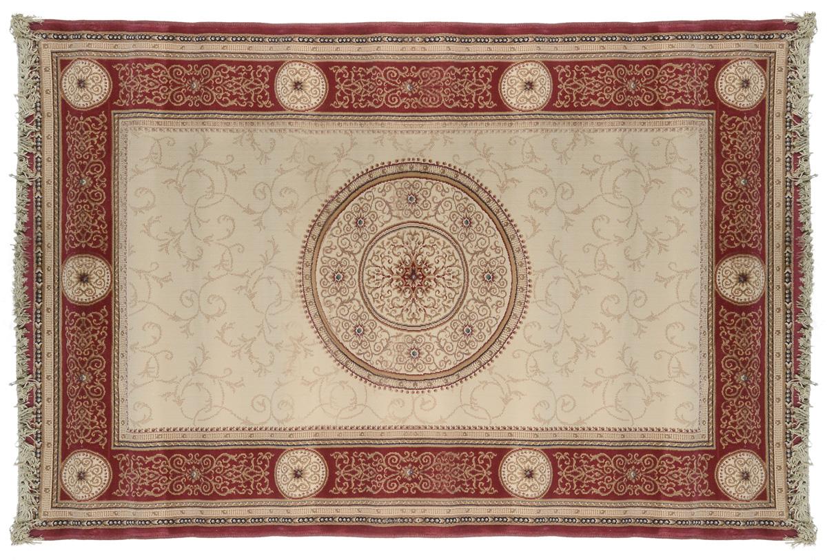 Ковер Oriental Weavers Кастл, цвет: коричнево-красный, бежевый, 120 х 180 см. 212 R14972Прикроватный коврик Oriental Weavers Кастл выполнен из полипропилен хит-сета. Изделие долго прослужит в вашем доме, добавляя тепло и уют, а также внесет неповторимый колорит в интерьер любой комнаты.Такой коврик отлично подойдет к вашему интерьеру.