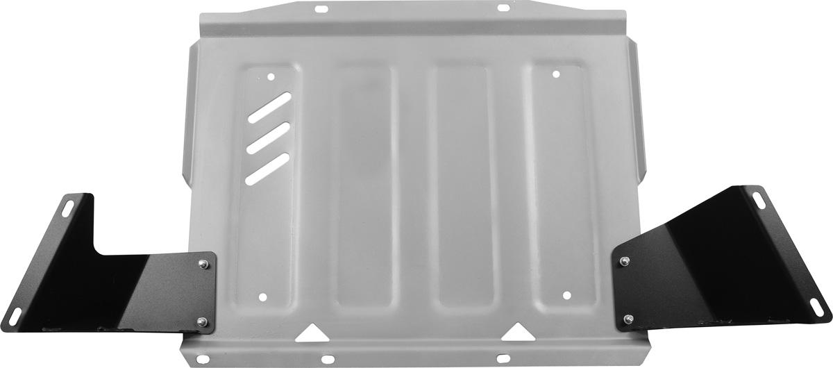 Защита КПП Rival, для Mitsubishi Pajero IV. 333.4044.198298123_черныйЗащита КПП для Mitsubishi Pajero IV , V - 3,0; 3,2(188hp, 200hp); 3,8 2006-2011 2011-2016, крепеж в комплекте, алюминий 4 мм, Rival. Надежно защищают днище вашего автомобиля от повреждений, например при наезде на бордюры, а также выполняют эстетическую функцию при установке на высокие автомобили.- Толщина алюминиевых защит в 2 раза толще стальных, а вес при этом меньше до 30%.- Отлично отводит тепло от двигателя своей поверхностью, что спасает двигатель от перегрева в летний период или при высоких нагрузках.- В отличие от стальных, алюминиевые защиты не поддаются коррозии, что гарантирует срок службы защит более 5 лет.- Покрываются порошковой краской, что надолго сохраняет первоначальный вид новой защиты и защищает от гальванической коррозии.- Глубокий штамп дополнительно усиливает конструкцию защиты.- Подштамповка в местах крепления защищает крепеж от срезания.- Технологические отверстия там, где они необходимы для смены масла и слива воды, оборудованные заглушками, надежно закрепленными на защите.Уважаемые клиенты!Обращаем ваше внимание, на тот факт, что защита имеет форму, соответствующую модели данного автомобиля. Фото служит для визуального восприятия товара.