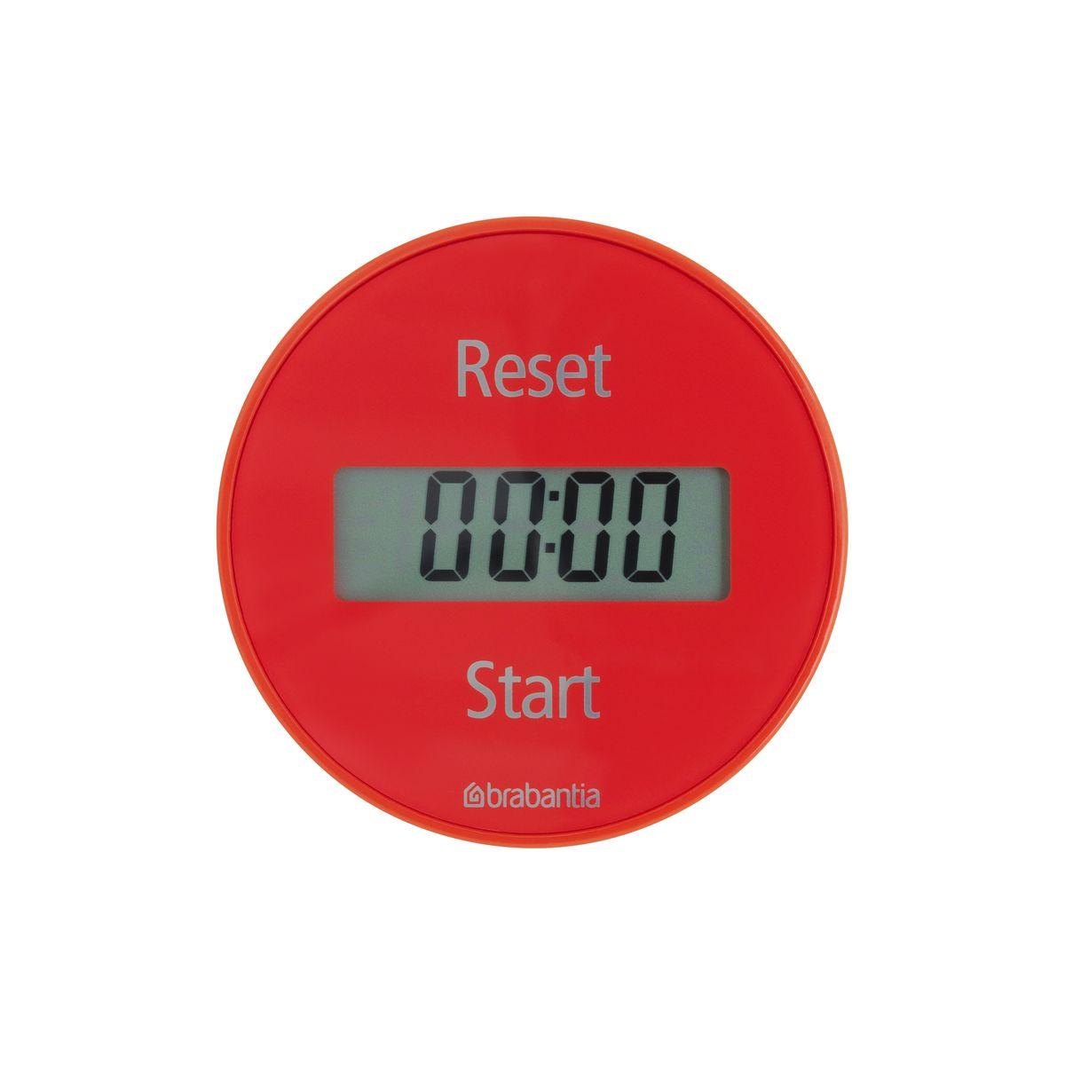 Кухонный таймер Brabantia Tasty Colours54 009312Кухонный таймер на магните с прямым и обратным отсчетом в диапазоне до 99 минут. Просто поверните внешнее кольцо прибора для установки времени, необходимого для приготовления вашего любимого блюда. Звуковой сигнал известит вас о готовности.Таймер легко и быстро устанавливается с помощью внешнего кольца - просто поверните;Удобное крепление - на магните;Функция таймера и секундомера;В комплект входит батарея CR2032;5-летняя гарантия Brabantia.