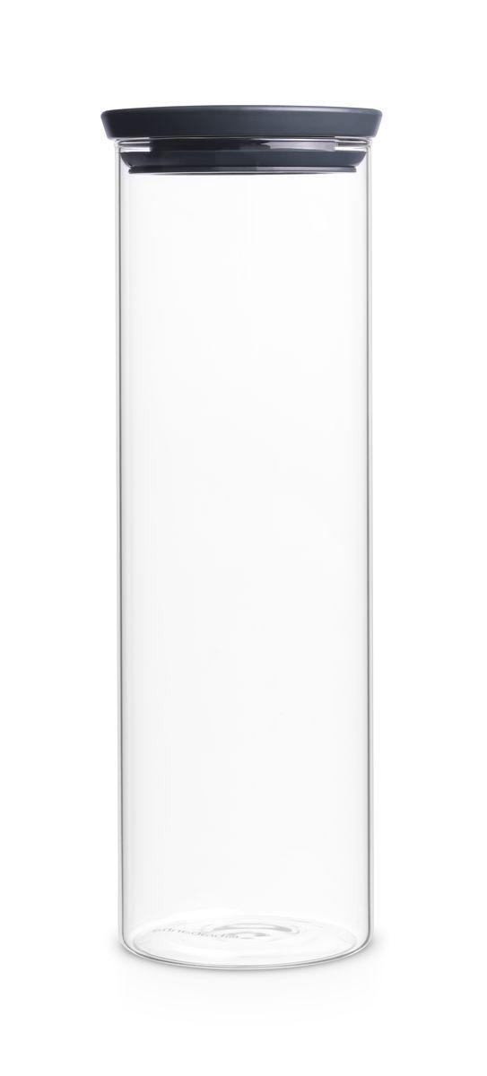 Модульная стеклянная банка Brabantia, цвет: темно-серый, 1,9 л китайские медицинские стеклянные банки купить