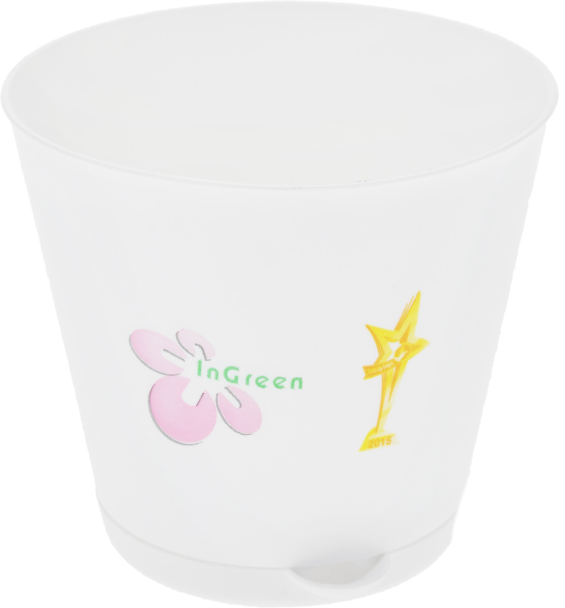 Горшок для цветов InGreen Крит, с системой прикорневого полива, диаметр 12 смGA627Горшок InGreen Крит, выполненный из высококачественного пластика, предназначен для выращивания комнатных цветов, растений и трав. Специальная конструкция обеспечивает вентиляцию в корневой системе растения, а дренажные отверстия позволяют выходить лишней влаге из почвы. Крепежные отверстия и штыри прочно крепят подставку к горшку. Прикорневой полив растения осуществляется через удобный носик. Система прикорневого полива позволяет оставлять комнатное растение без внимания тем, кто часто находится в командировках или собирается в отпуск и не имеет возможности вовремя поливать цветы.Такой горшок порадует вас современным дизайном и функциональностью, а также оригинально украсит интерьер любого помещения. Объем: 700 мл.Диаметр горшка (по верхнему краю): 12 см.Высота горшка: 11 см.