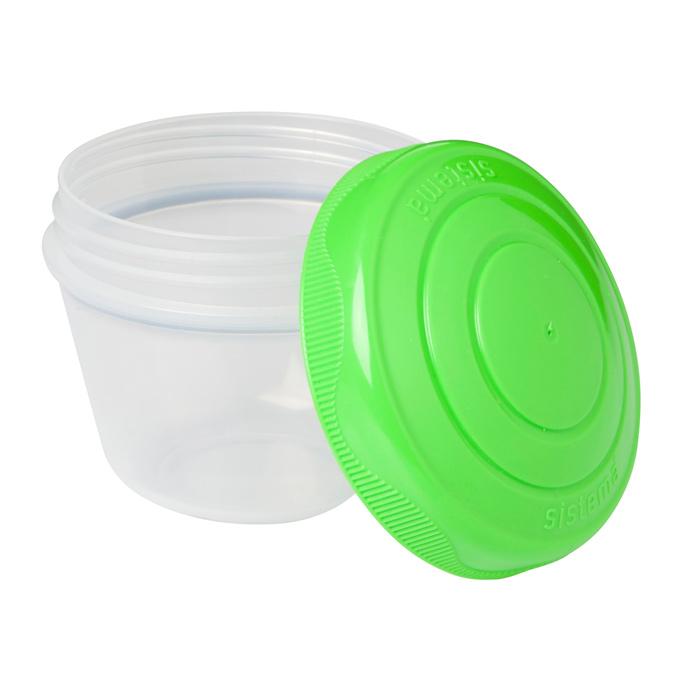 Йогурт Sistema TO-GO цвет зеленый фиолетовый 150мл (2шт)VT-1520(SR)Контейнер To Go создан для людей ведущих активный образ жизни. Контейнер позволит удобно хранить йогурт, детское питания, остатки еды или взять в школу обед. Можно мыть в посудомоечной машине.