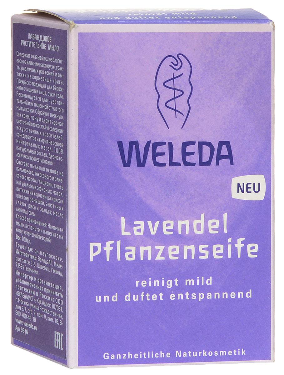 Weleda Мыло лавандовое растительное 100гр12121945Лавандовое растительное мыло Содержит оказывающие благоприятное влияние на кожу экстракты различных растений и вытяжки из корневища ириса. Прекрасно подходит для бережного очищения лица, рук и тела. Рекомендуется для чувствительной и истощенной от частого мытья кожи. Образует нежную, как крем пену и дарит аромат цветочной свежести. Не содержит искусственных красителей, консервантов и сырья на основе минеральных масел. 100% натуральный состав. Дерматологически протестировано.