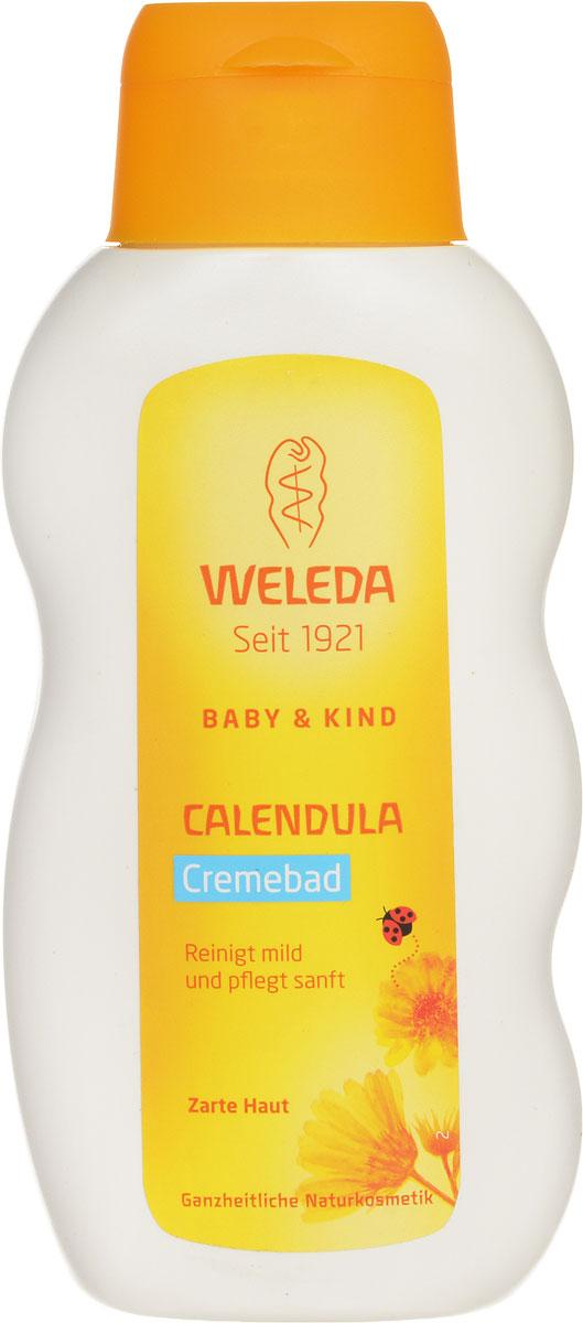 Weleda Молочко для купания Baby, с календулой, 200 млFS-54100Молочко для купания младенцев Weleda имеет кремово-белый цвет и свежий нежный запах. Предназначено для нежного очищения и успокоения нежной кожи вашего малыша. Высокое содержание в молочке целебных растительных масел способствует предотвращению потери влаги, что делает кожу малыша нежной и мягкой. Молочко для купания младенцев идеально подходит и для взрослых с чувствительной кожей.Масла миндаля и кунжута, входящие в состав молочка, покрывают кожу ребенка тонким слоем, который вы можете ощущать, когда вынимаете малыша из ванночки. Этот слой формирует естественную защиту таким образом, что вы можете купать малыша каждый день, не нарушая естественный баланс его кожи (обычно мы рекомендуем купать малыша через день или два). Экстракт календулы, входящий в состав молочка для купания, очищает и успокаивает чувствительную кожу. Смесь натуральных эфирных масел, в том числе лавандовое и лимонное масло, придают крему для купания нежный свежий аромат.Товар сертифицирован.
