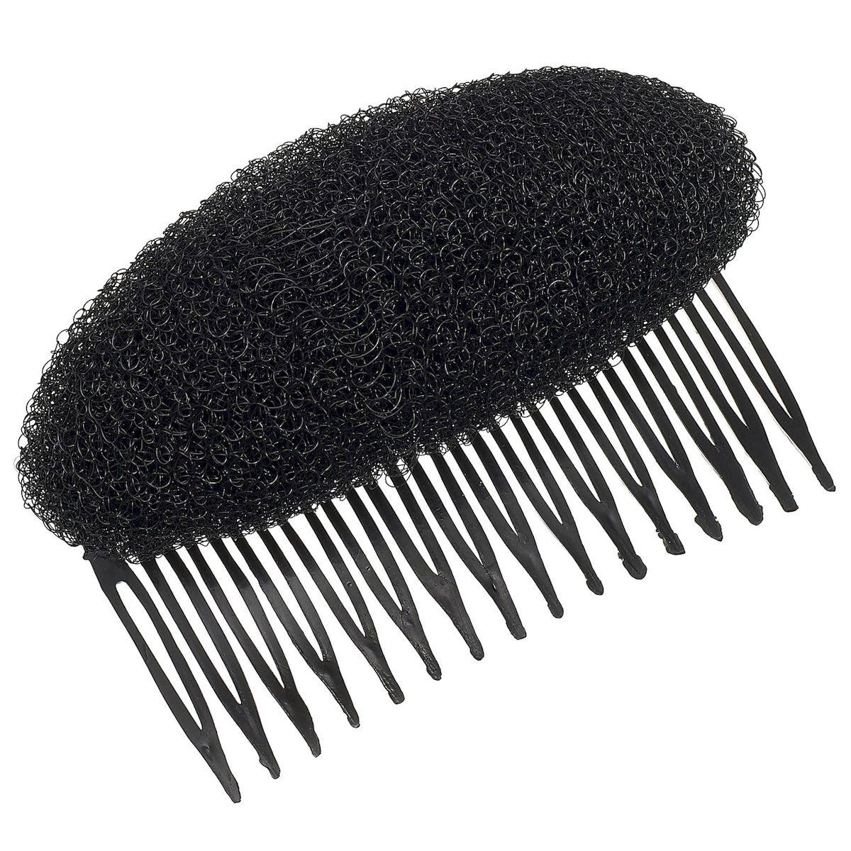 Magic Leverage Валик Гребешок, цвет: черныйSatin Hair 7 BR730MNВерхнее покрытие валика - нейлоновые волокна, имитирующих волос.Внутри - нейлоновая сетка для легкости ношения и удобства фиксирования шпильками в прическе.Цвета: блондин, брюнет, коричневый.