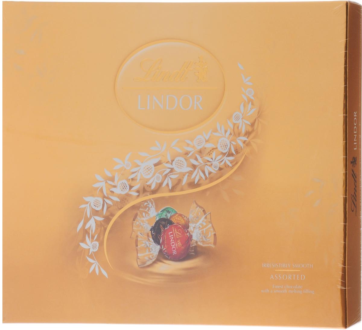 Lindt Lindor Ассорти шоколадные конфеты, 210 г (золотая коробка) конфеты lindor цена