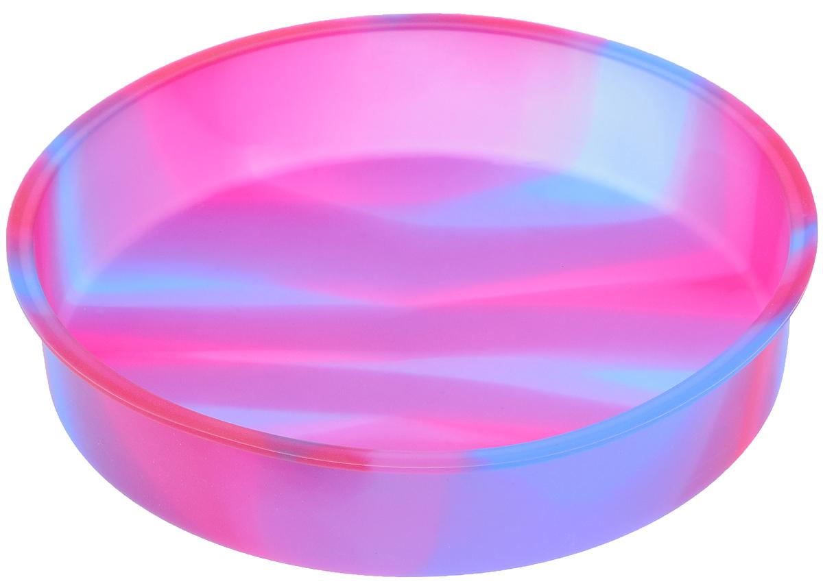 Форма для выпечки Atlantis Торт, круглая, цвет: розовый, фиолетовый, диаметр 25 см94672Форма для выпечки Atlantis Торт изготовлена из качественного пищевого силикона. Силиконовая форма для выпечки имеет много преимуществ по сравнению с традиционной металлической и алюминиевой посудой. Благодаря гибкости и антипригарным свойствам изделия, ваша выпечка никогда не потеряет свой внешний вид. Силикон не вступает ни в какое химическое воздействие с окружающими материалами. Следовательно, пища никогда не будет содержать посторонних примесей и неприятных запахов. Форма займет на вашей кухне минимум места, ее можно свернуть и убрать в шкаф, а при очередном использовании она примет первоначальный вид. Форма идеально подходит для использования в микроволновых, газовых и электрических печах при температурах до +230°С. Можно мыть в посудомоечной машине. Внешний диаметр (по верхнему краю): 25 см. Высота стенки: 5 см.