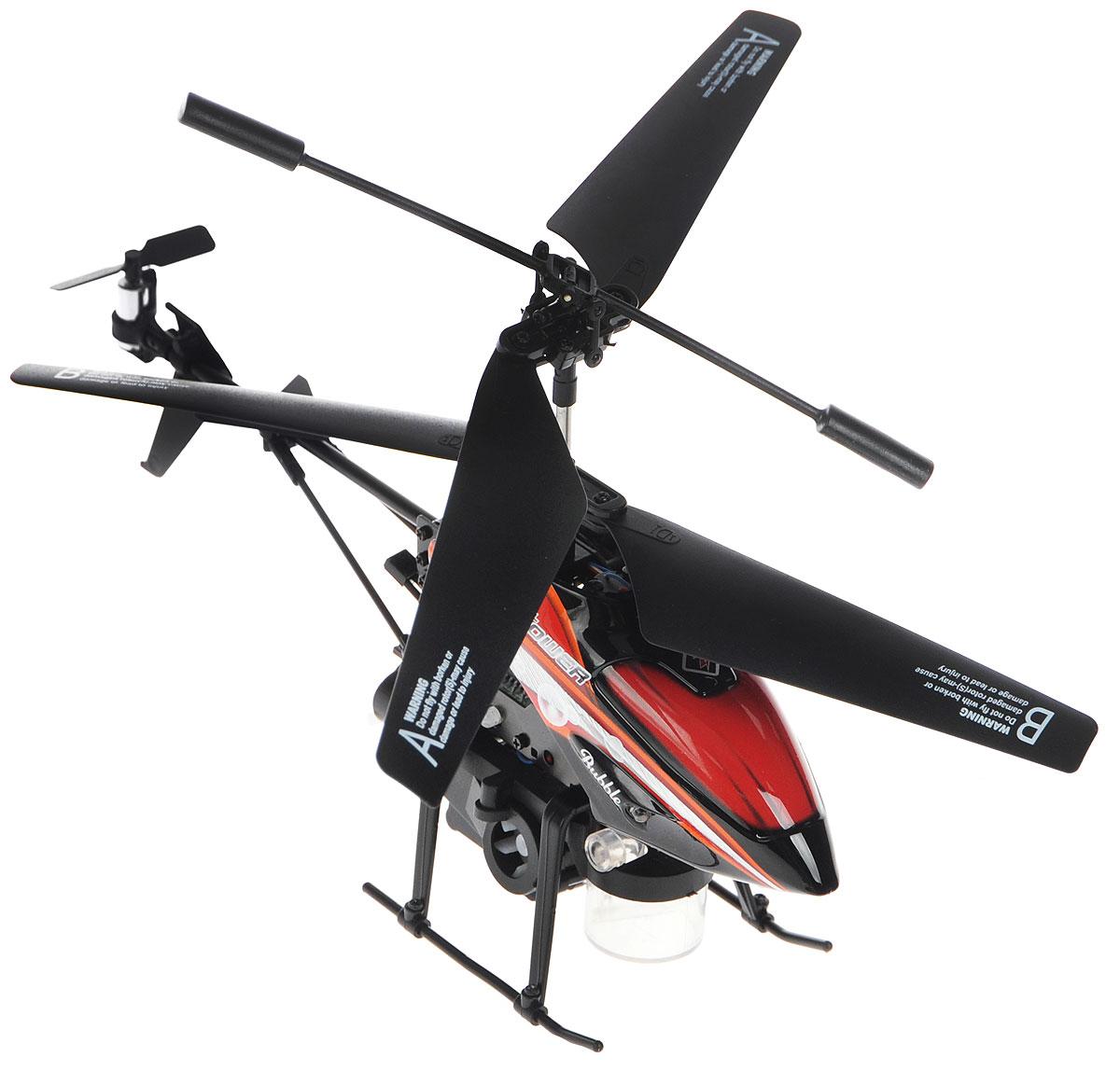 ABtoys Вертолет на инфракрасном управлении Bubble цвет черный красный