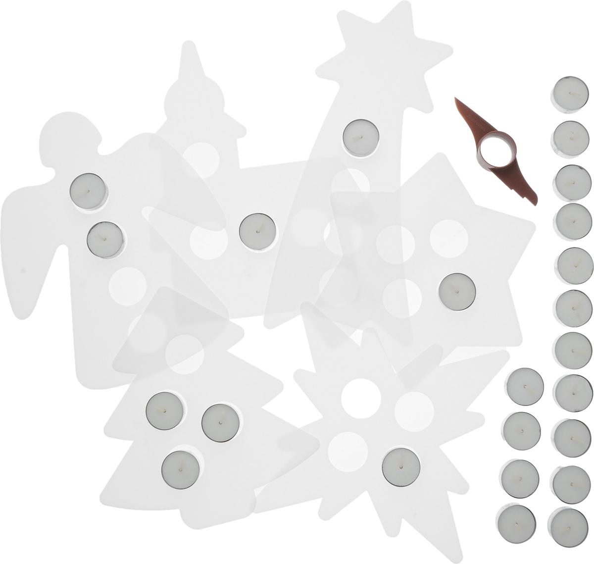 Форма для выпечки Tescoma Delicia, 6 шт. 63140694672Набор для приготовления 6 оригинальных рождественских подсвечников из домашних пряников, которые станут изысканным и вкусным украшением вашего праздничного стола и доставят невероятное удовольствие вашей семье и детям. В набор входят 6 различных шаблонов подсвечников, многофункциональный пластиковый нож с приспособлением для измерения толщины теста и 24 чайные свечи. Внутри упаковки вы найдете подробные инструкции для приготовления и рецепты. После использования все предметы достаточно промыть тепло водой и высушить.