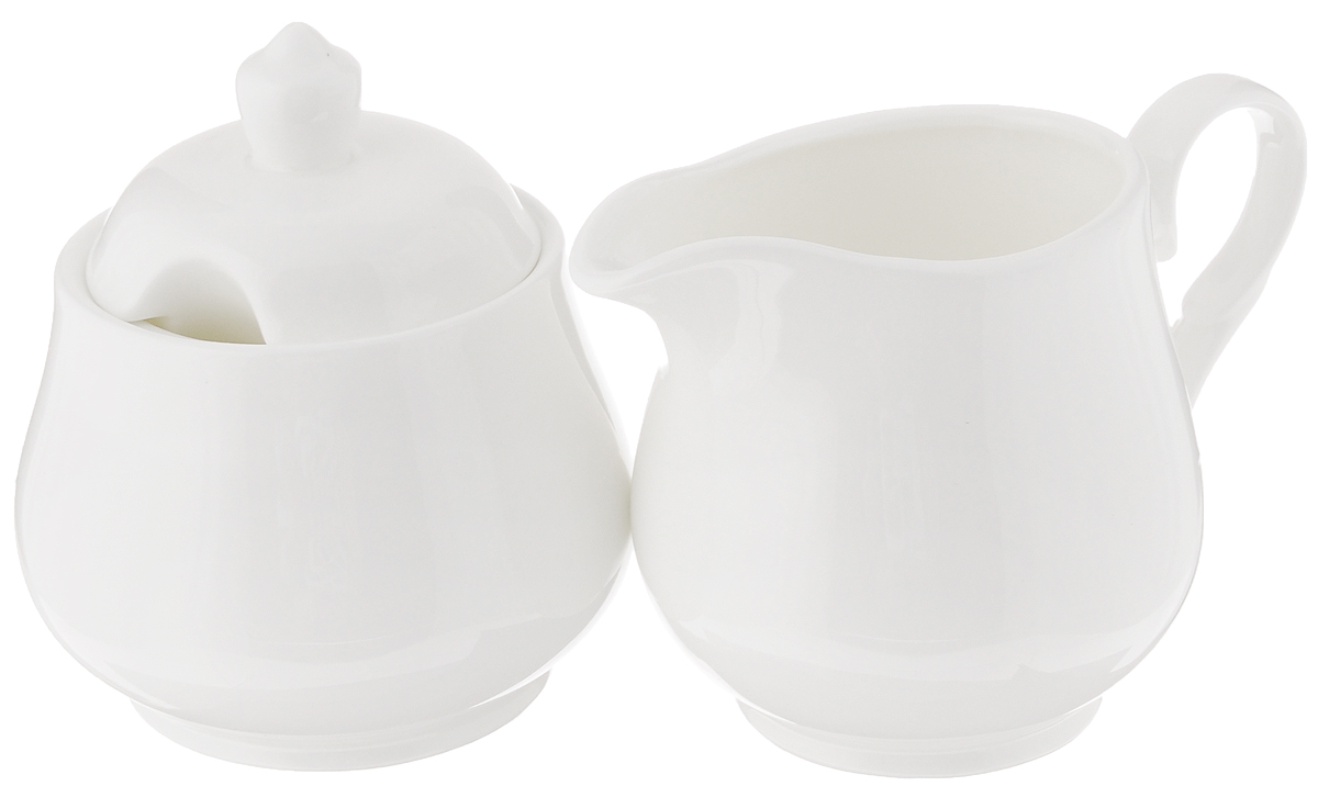 Набор Wilmax: сахарница, молочник. WL-995024 / 2C115510Набор Wilmax, состоящий из сахарницы с крышкой и молочника, выполнен из высококачественного фарфора. Изделия, декорированные красочным изображением цветов, имеют изысканный внешний вид. Такой набор прекрасно подойдет для сервировки стола и станет незаменимым атрибутом чаепития. Изделия можно мыть в посудомоечной машине и использовать в микроволновой печи. Объем молочника: 310 мл. Объем сахарницы: 340 мл.
