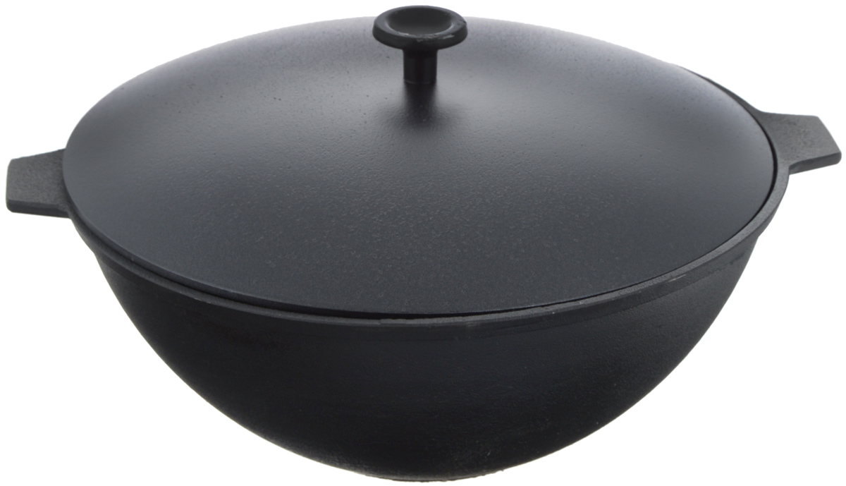 Котел чугунный Добрыня, с крышкой, 5 л. DO-3336DO-3336Котел Добрыня изготовлена из натурального, экологически безопасного чугуна. Изделие оснащено двумя ручками и алюминиевой крышкой. Чугун является одним из лучших материалов для производства посуды. Его можно нагревать до высоких температур. Он очень практичный, не выделяет токсичных веществ, обладает высокой теплоемкостью и способен служить долгие годы. Такой котел замечательно подойдет для приготовления жаренных и тушеных блюд. Подходит для всех типов плит, включая индукционные. Изделие мыть только вручную.Диаметр котла по верхнему краю: 28 см.Ширина котла с (учетом ручек): 35 см.Высота стенки: 12,5 см.