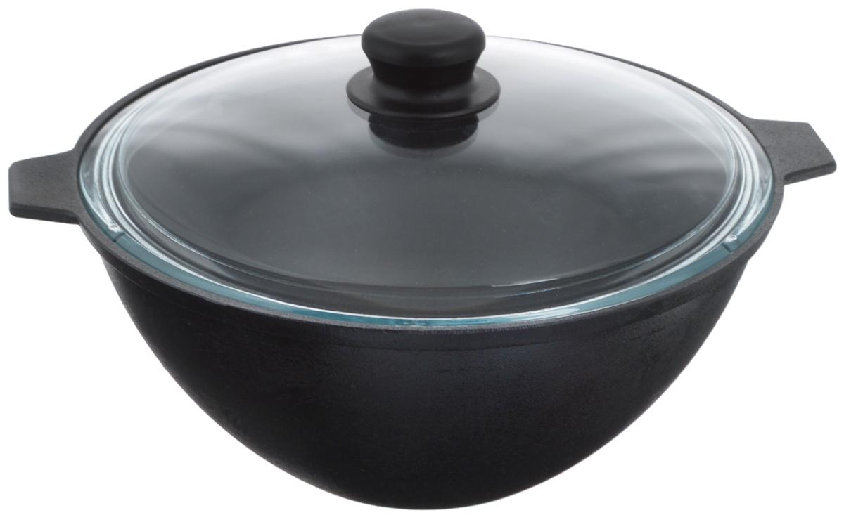 Котел чугунный Добрыня, с крышкой, 4 л. DO-3333202-2500 синийКотел Добрыня изготовлен из натурального, экологически безопасного чугуна иснабжен стеклянной крышкой. Чугун является одним из лучших материалов для производства посуды. Он очень практичный, не выделяет токсичных веществ, обладает высокой теплоемкостью и способен служить долгие годы. Чугунная посуда очень прочная и обладает превосходными природными антипригарными свойствами. Она не боится механических повреждений, царапин или высоких температур, однако тяжелее обычных и не очень любит длительный контакт с водой.Чугунная посуда была популярна сотни лет и до сих пор остается такой. Свое качество и уникальные свойства она подтверждает в деле. Котел подходит для всех типов плит, включая индукционные, а также для приготовления пищи на костре. Рекомендуется мыть вручную. Высота стенки: 13 см. Объем котла: 4 л. Диаметр котла (по верхнему краю): 28,3 см.