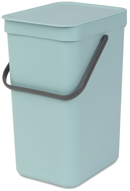 Ведро для мусора Brabantia Sort & Go, цвет: мятный, 12 л