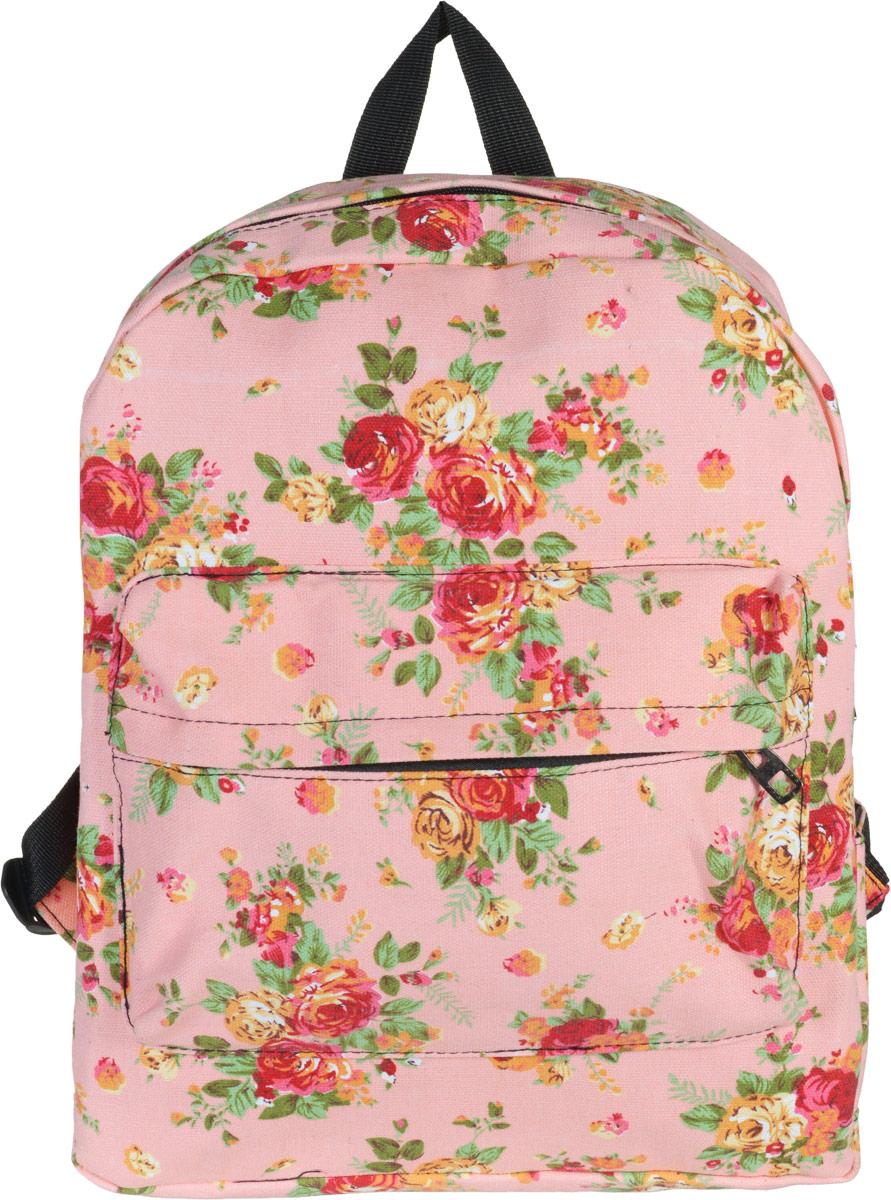 Рюкзак женский Kawaii Factory Flower Bouquets, цвет: розовый. KW102-000042S76245Нежный рюкзак с цветочным принтом Flower Bouquets от Kawaii Factoryприведет в восторг многих девушек. Романтичные цветы и зефирная окраска отлично подчеркнут женственность и элегантность хозяйки .Рюкзак очень прочный и вместительный. В нем можно разместить необходимое количество вещей для спорта или учебы. Прочные качественные лямки удобно распределят вес так, чтобы спина не уставала к концу активного дня в городе. Снаружи есть карман на молнии. Внутри большой карман без застежки и карман для телефона и мелочей. Благодаря отличной эргономичности прогулочный рюкзак будет практически невесомым на вашей спине. Простой, но в то же время стильный- он определенно выделит своего обладателя из толпы и непременно поднимет настроение. А яркий современный дизайн, который является основной фишкой данной модели, будет радовать глаз.