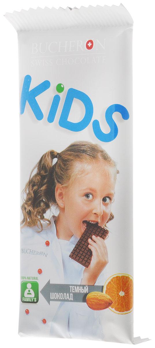 Bucheron Kids темный шоколад с апельсином и миндалем, 50 г