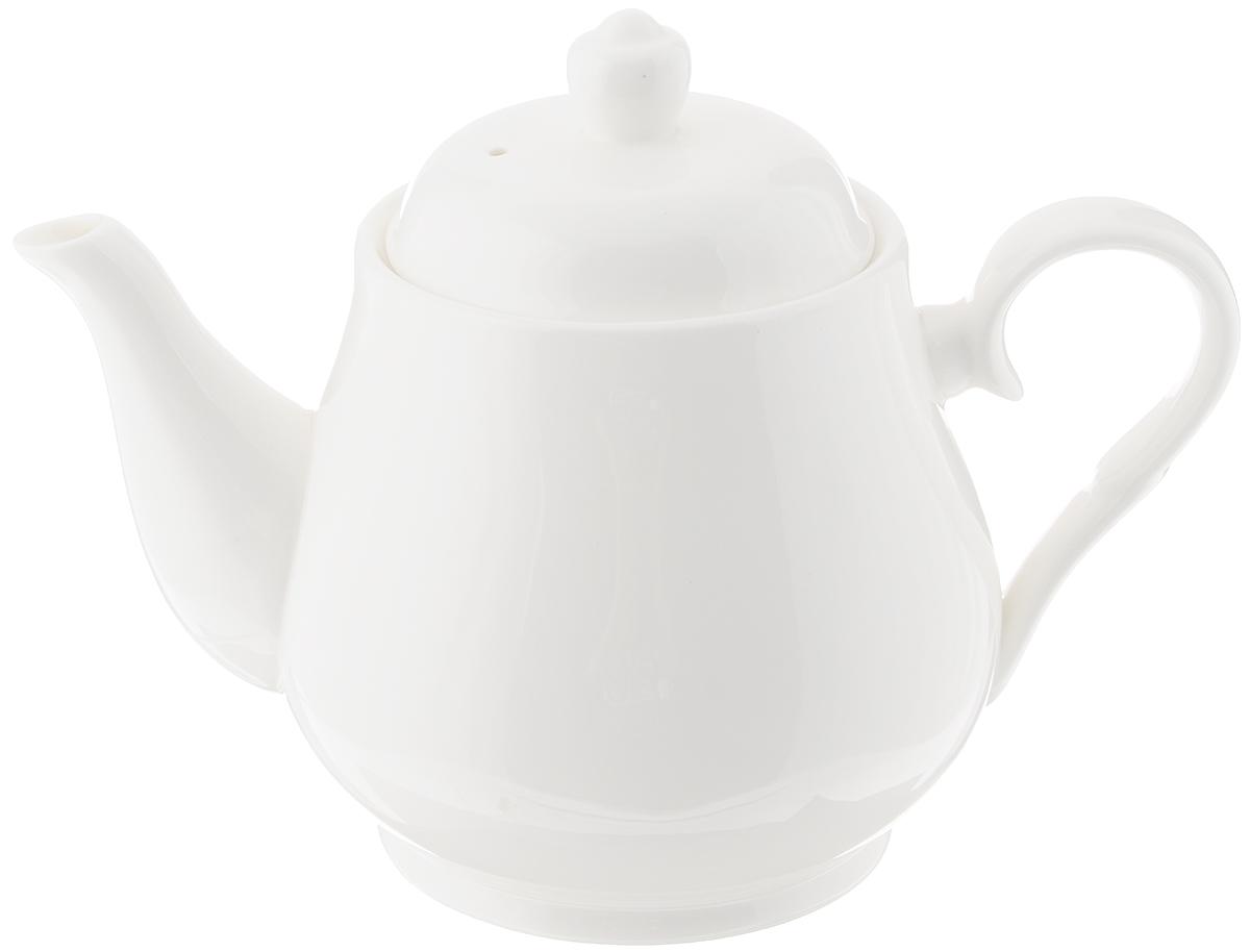 Чайник заварочный Wilmax, 1,15 лFS-91909Заварочный чайник Wilmax изготовлениз высококачественного фарфора. Глазурованное покрытиеобеспечивает легкую очистку. Изделие прекрасноподходит для заваривания вкусного и ароматногочая, а также травяных настоев. Ситечко в основании носика препятствуетпопаданию чаинок в чашку. Оригинальныйдизайн сделает чайник настоящим украшениемстола. Можно мыть в посудомоечной машине ииспользовать в микроволновой печи. Диаметр чайника (по верхнему краю): 10 см. Высота чайника (без учета крышки): 12,5 см.