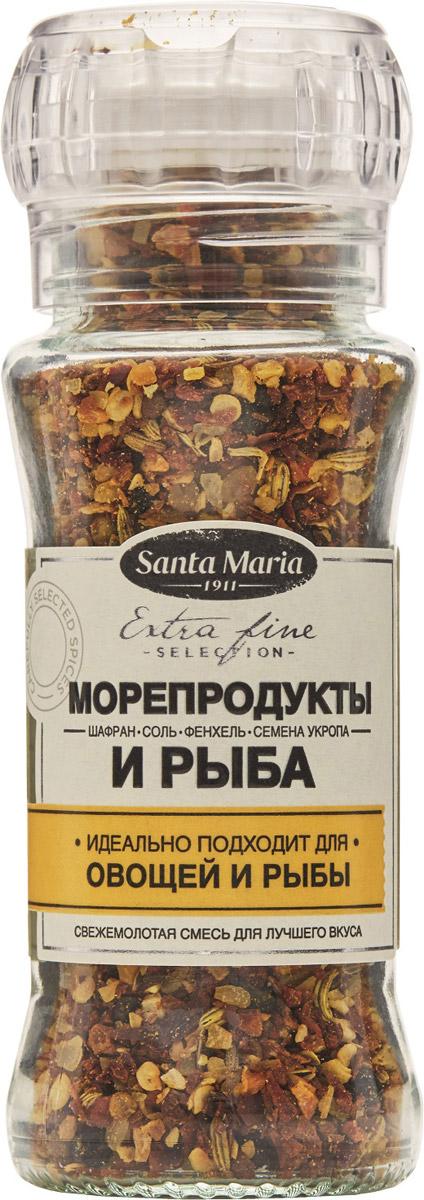 Santa Maria Смесь Морепродукты и рыба, 90 г26724Смесь Santa Maria Морепродукты и рыба - отлично сбалансированная смесь для рыбы и морепродуктов.Подходит также для супов, вегетарианских блюд и паэльи.