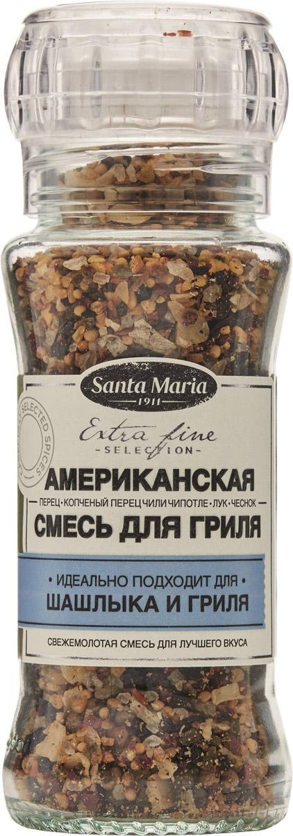 Santa Maria Американская смесь для гриля, 85 г0120710Американская смесь Santa Maria придает копченый вкус любым блюдам на гриле - мясу, рыбе, овощам и морепродуктам. Смесь лука, чеснока, чили Чипотле, перца и морской соли превзойдет ожидания в приготовлении на гриле.
