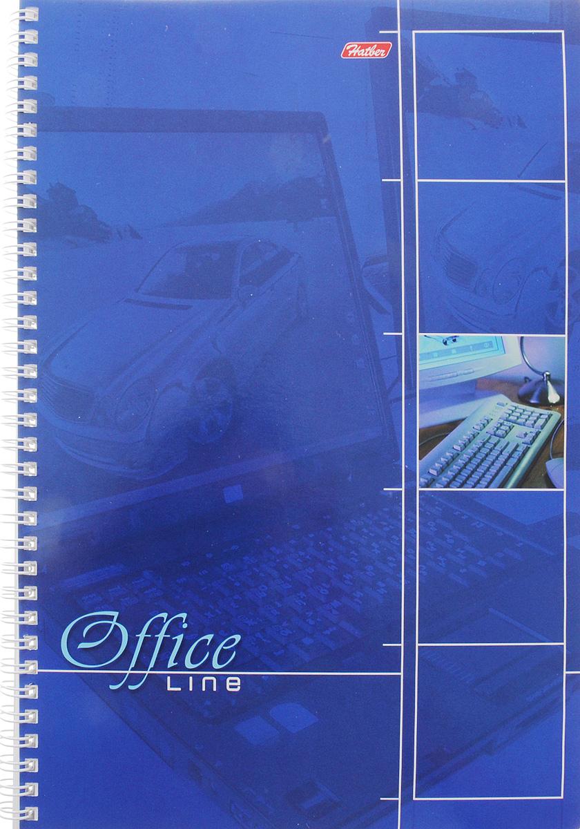 Hatber Тетрадь Office Line 80 листов в клетку цвет синий80Т5B2_зеленыйТетрадь Hatber Office Line непременно подойдет как школьнику, так и студенту.Обложка тетради выполнена из картона и оформлена в синем цвете. Внутренний блок состоит из 80 листов в синюю клетку с закругленными углами, формата А4. Листы тетради соединены надежным металлическим гребнем. Такая удобная тетрадь от Hatber Office Line станет для вас надежным помощником в учебных или офисных делах.