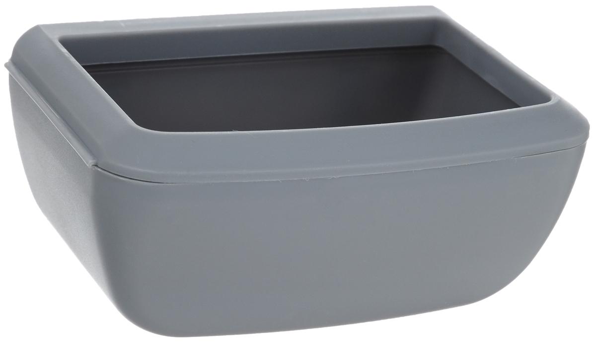 Кормушка для переноски Moderna, цвет: серый, 12 х 8 х 5 см0120710Кормушка для переносок Moderna - дополнительный аксессуар, который позволит сделать поездку для вашего питомца более комфортной.Может использоваться как кормушка или поилка, в зависимости от необходимости.Нейтральный серый цвет подойдет к переноске любого цвета и не испортит общий внешний вид.Пластик высокого качества обеспечит длительный период эксплуатации изделия.