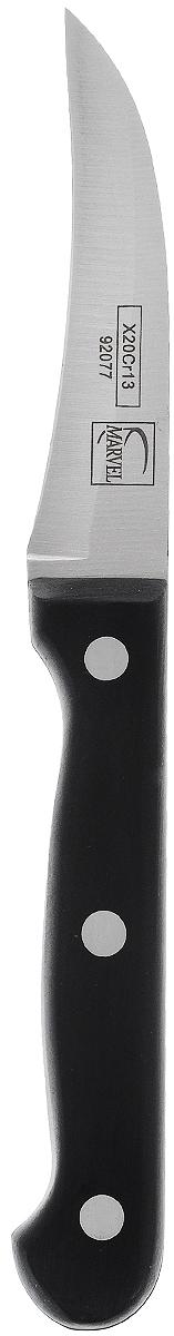 Нож для чистки картофеля Marvel Classic Series, цвет: серый, длина лезвия 7,5 см. 9207792077Нож для чистки картофеля Marvel Classic Series изготовлен из высококачественной нержавеющей стали. Отличается высокой прочностью, превосходными характеристиками и удобной рукояткой. Долговечность, изящность и прекрасные режущие свойства делают ножи Marvel очевидным выбором для многих. Нож очень удобен, несмотря на кажущуюся простоту, предназначен для долговременной работы, рукоять приятно охватывается рукой, эргономична. Нож, благодаря такой рукояти, великолепно управляем.Не мыть в посудомоечной машине!Общая длина ножа: 18 см.