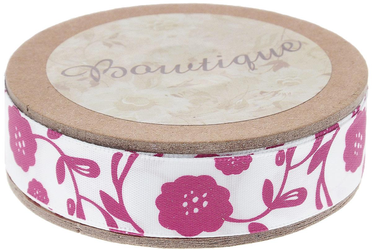Лента атласная Hemline Флора, цвет: белый, розовый, 1,5 х 500 смNLED-454-9W-BKЛента на картонной катушке Hemline Флора выполнена из полиэстера. Такая лента идеально подойдет для оформления различных творческих работ, может использоваться для скрапбукинга, создания аппликаций, декора коробок и открыток, часто ее применяют при пошиве одежды, сумок, аксессуаров. Лента наивысшего качества практична в использовании. Она станет незаменимым элементом в создании вашего рукотворного шедевра.