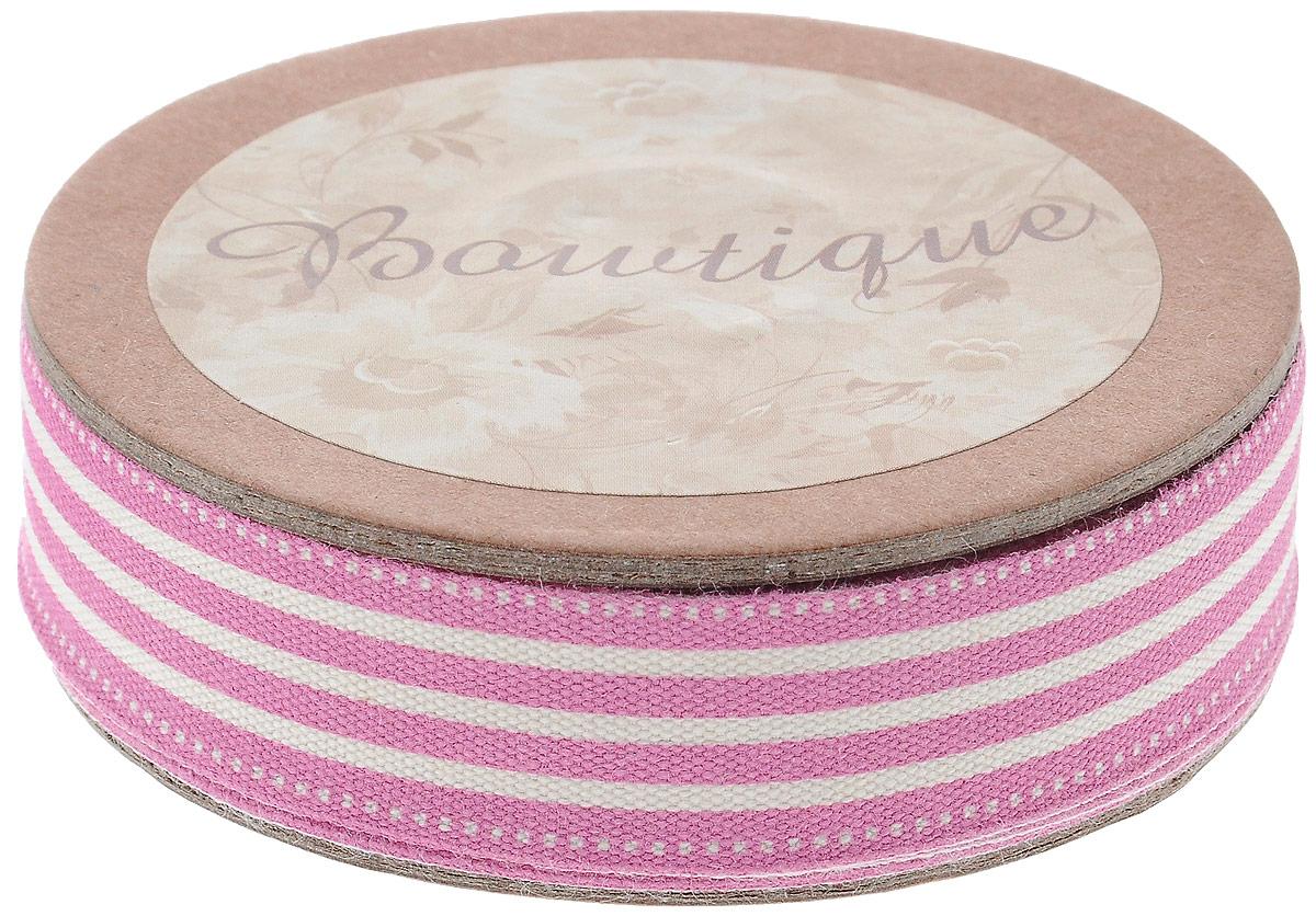 Лента хлопковая Hemline Полоски, цвет: белый, розовый, 1,5 х 500 см841Лента на картонной катушке Hemline Полоски выполнена из хлопка. Такая лента идеально подойдет для оформления различных творческих работ, может использоваться для скрапбукинга, создания аппликаций, декора коробок и открыток, часто ее применяют при пошиве одежды, сумок, аксессуаров. Лента наивысшего качества практична в использовании. Она станет незаменимым элементом в создании вашего рукотворного шедевра.