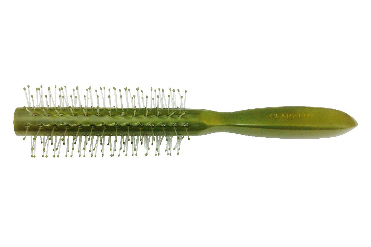 Clarette Щетка для волос круглая, цвет: оливковыйMP59.4DКоллекция Clarette Перламутр- это расчески, щетки и термо-брашинги для ухода за волосами. Коллекция изготовлена из перламутрового пластика в яркой цветовой гамме. Щетка подходит для профессионального применения, легко поднимает корни волос, придавая объем прическе