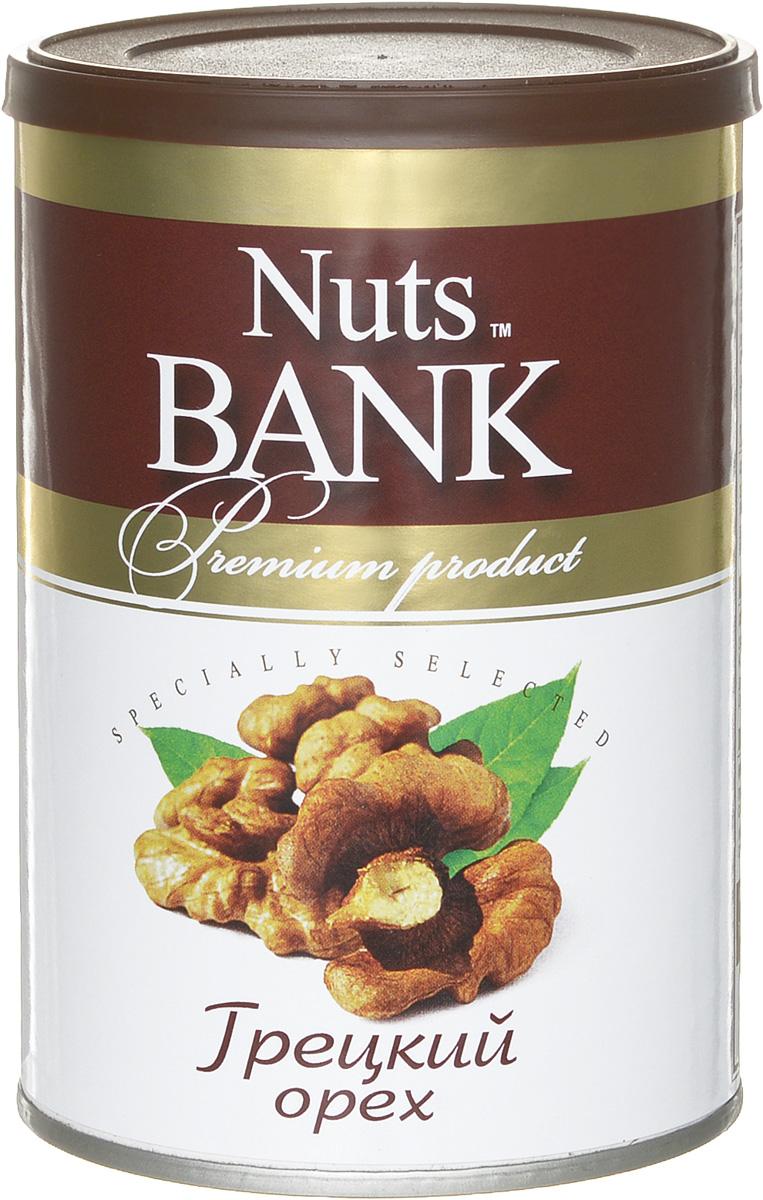 Nuts Bank Грецкий орех подсушенный, 125 г0120710Грецкие орехи содержат витамины группы А, Е, В, Р, С, а также минеральные вещества (калий, натрий, фосфор, железо, магний, кальций, йод). Грецкий орех – это прекрасный источник белка, который вполне может заменять животные белки.