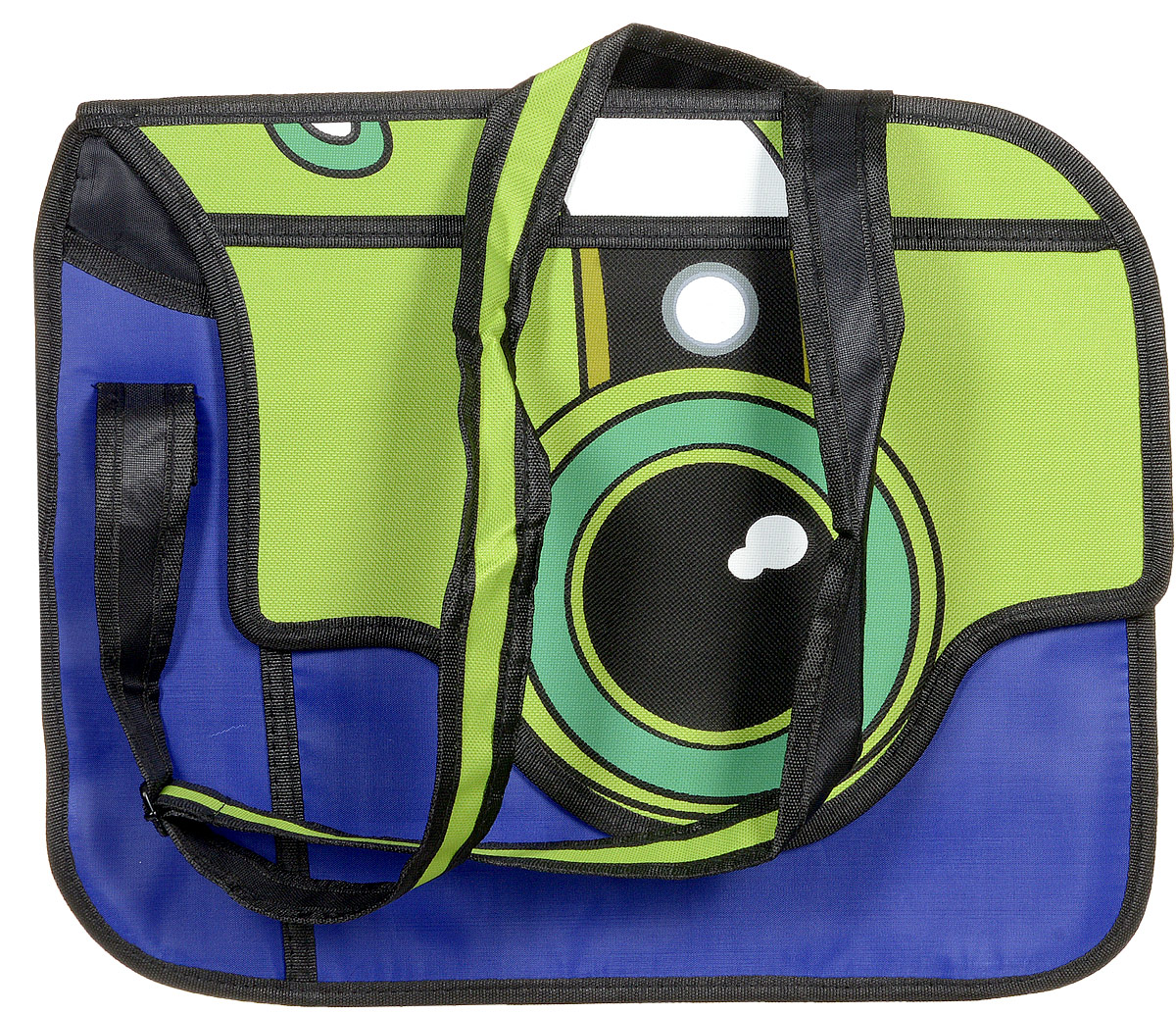 Сумка 3D Kawaii Factory Фотоаппарат, цвет: сине-зеленый. KW100-000122L39845800Позвольте себе поозорничать, появившись на улице с мультяшной сумкой Фотоаппарат от Kawaii Factory. Эта забавная сумка точно привлечет к вам взгляды окружающих, а вам она обеспечит прекрасное настроение в любую непогоду. Ведь ее сине-зеленая расцветка так напоминает яркие сочные краски лета. А объектив фотоаппарата навевает мысль о фантастических путешествиях в загадочные страны, где точно найдется, что пофотографировать. 3D сумка в виде фотоаппарата очень вместительная. В ней легко спрячутся все столь нужные мелочи, без которых современная девушка не выйдет из дома. Да и настоящий фотоаппарат в нее можно положить без проблем. Эта сумочка не боится дождя и снега, так как выполнена из прекрасного качественного нейлона, не пропускающего влагу. Закрывается изделие клапаном на магнитную застежку, внутри имеется 2 отделения, а с тыльной стороны находится карман на молнии. Сумка 3D Фотоаппарат - это как раз то, что вам нужно, чтобы зарядиться позитивом и покорить весь мир своим отличным настроением! Ну и, конечно, это просто потрясающий подарок для любимых, которых всегда хочется порадовать чем-то особенным и необычным.