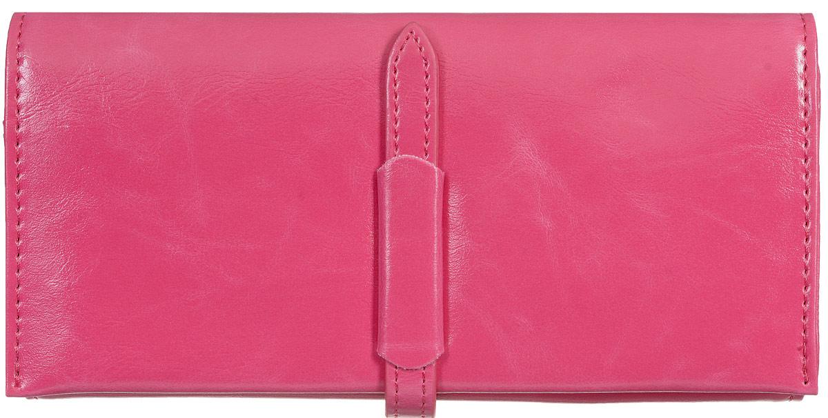 Кошелек женский Kawaii Factory Классика, цвет: маджента. KW057-000553INT-06501Классический полнокупюрный кошелек Классика от Kawaii Factory прекрасно впишется в любой стиль. Внутри он состоит из 3 отделений для купюр, 12 кармашков для карточек и визиток и кармашка для фото. Кошелек также оснащен внешним прорезным карманом для мелочей, отделением для мелочи на застежке-молнии и скрытым карманом. Изделие закрывается на хлястик с фиксатором. Женский кошелек Классика отличается строгим эргономичным дизайном и универсальностью. Если вам нравится сдержанность стиля и лаконичность в деталях, такой аксессуар обязательно должен быть в списке ваших вещей.