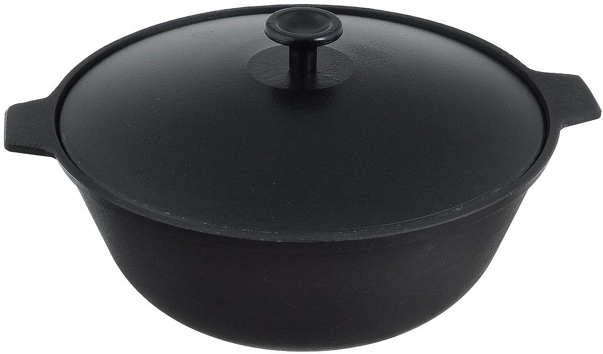 Котел чугунный Добрыня с крышкой, 3 лKOC-H19-LEDКотел Добрыня изготовлена из натурального экологически безопасного чугуна. Изделие оснащено двумяручками и алюминиевой крышкой. Котел является одним из лучших материалов для производства посуды. Его можно нагревать до высоких температур. Он очень практичный, не выделяет токсичных веществ, обладает высокой теплоемкостью и способен служить долгие годы. Такой котел замечательно подойдет для приготовления жаренных и тушеных блюд. Подходит для всех типов плит, включая индукционные. Изделие мыть только вручную.Диаметр котла ( по верхнему краю): 26,5 см.Высота стенки: 10,5 см.Ширина котла (с учетом ручек): 30,5 см.Диаметр основания: 12 см.