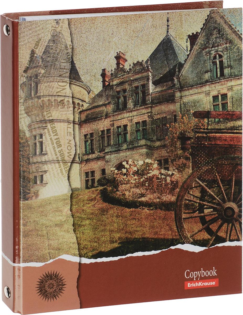 Erich Krause Тетрадь на кольцах 80 листов в клетку цвет коричневый -  Тетради