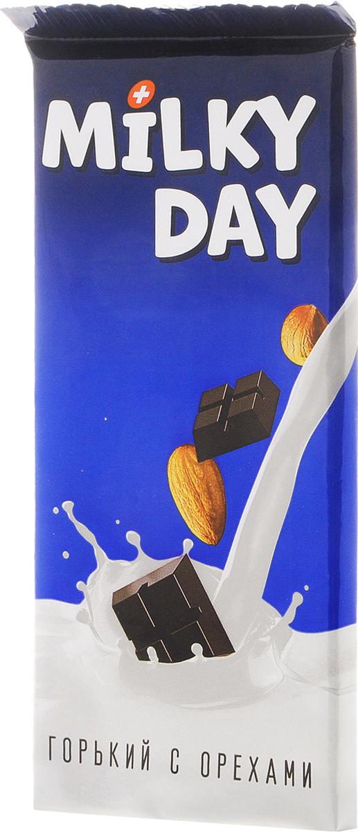 Milky Day кондитерская плитка горькая со злаками и орехами, 90 г14.2014Горький Milky Day со злаками и орехами - это вкусное, нежное и полезное лакомство. С Milky Day новый день вкусней!
