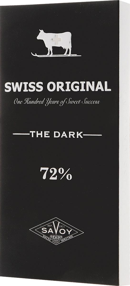 Swiss Original горький шоколад, 100 г14 6324Какао-бобы, собранные в Африке в районе Берега Слоновой Кости, делают вкус горького шоколада Swiss Original пряным с фруктовыми оттенками.