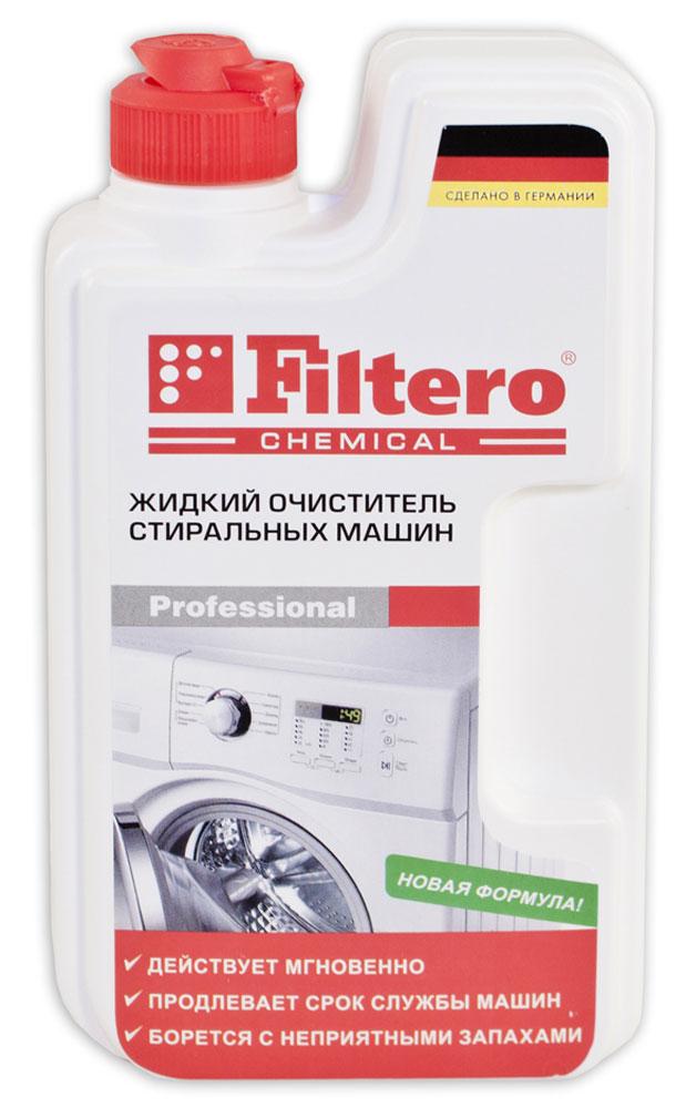 Filtero 902 жидкий очиститель для стиральных машин, 250 мл10503Жидкий очиститель Filtero полностью удаляет накипь с нагревательных элементов, загрязнения на всех внутренних поверхностях стиральных машин. Борется с неприятными запахами. Действует мгновенноПродлевает срок службы машинБорется с неприятными запахами