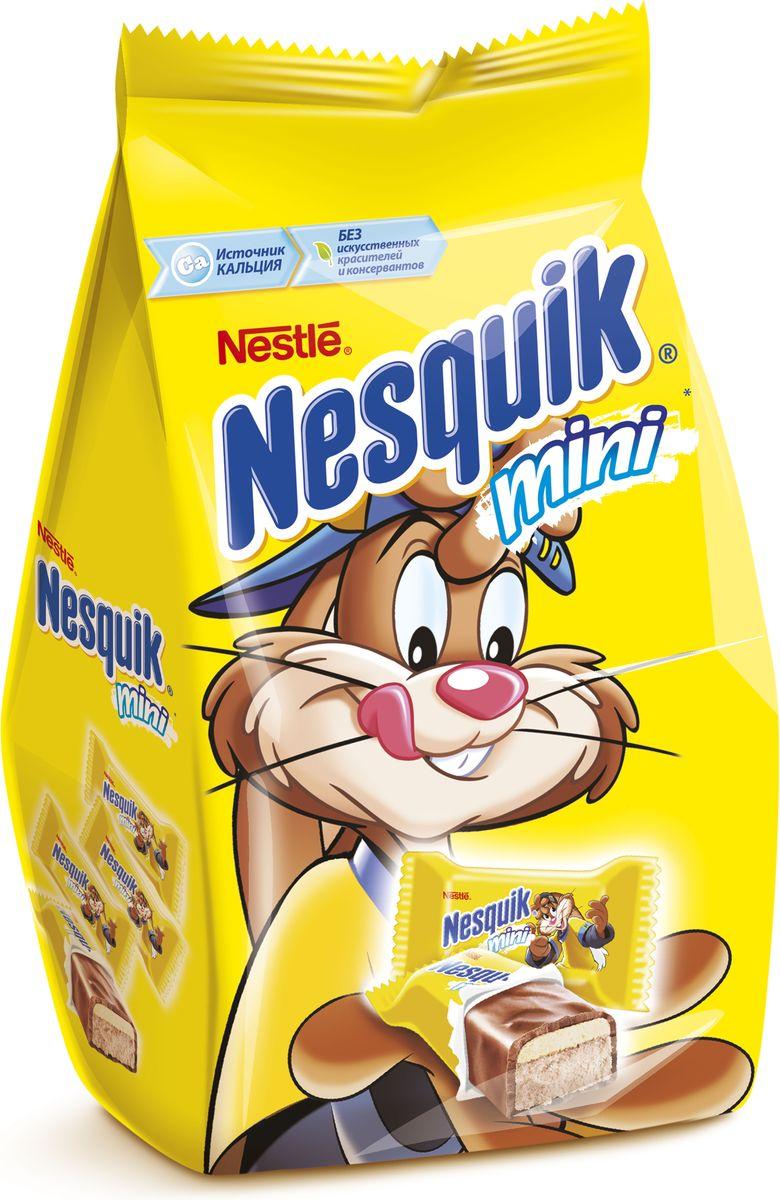 Nesquik Mini конфета, 186 г0120710Конфета с нугой, молочной начинкой и хрустящим рисом. Отличное лакомство для вашего непоседы,чтобы:Наслаждаться каждый деньПоделиться с друзьямиВзять с собой!БЕЗ искусственных красителей и консервантов. В одной конфете НЕСКВИК содержится 16% от рекомендуемой суточной потребности человека в кальции.