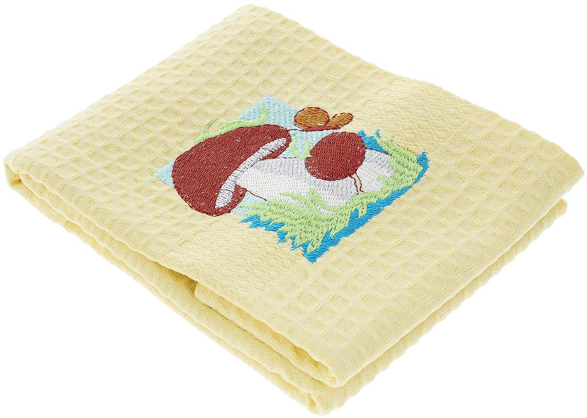 Полотенце кухонное Soavita Грибы, 40 х 60 см639770_ОранжевыйКухонное полотенце Soavita, выполненное из 100% хлопка, оформлено вышитым рисунком в виде двух грибков. Изделие предназначено для использования на кухне и в столовой.Такое полотенце станет отличным вариантом для практичной и современной хозяйки.Рекомендуется стирка при температуре 40°C.
